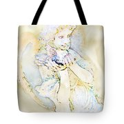 Angle With Dove Photoart Tote Bag