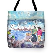 Angling In Gran Canaria Tote Bag