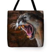 Angry Cougar Tote Bag