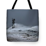 Angry Ocean In Ocean City Tote Bag
