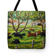 Angus Cows Under The Cool Shade By Prankearts Tote Bag
