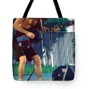 Angus Young Of A C D C At Day On The Green Monsters Of Rock Tote Bag