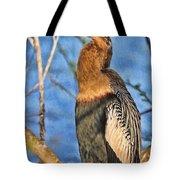 Anhinga At The Pond Tote Bag