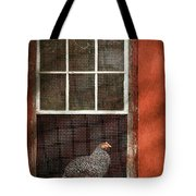 Animal - Bird - Chicken In A Window Tote Bag