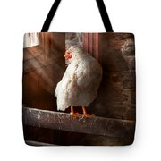 Animal - Chicken - Lost In Thought Tote Bag
