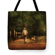 Animal - Dog - A Man And His Best Friend Tote Bag
