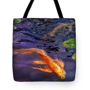 Animal - Fish - There's Something About Koi  Tote Bag by Mike Savad