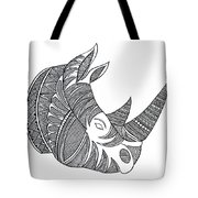 Animal Head Hippo Tote Bag