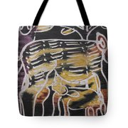 Animal In The Bush Feeds Young One. Tote Bag
