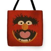 Animal Muppet Vintage Minimalistic Illustration On Worn Distressed Canvas Series No 008 Tote Bag