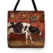 Animal - The Cow Tote Bag by Mike Savad