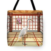 Animal - The Egret Tote Bag by Mike Savad