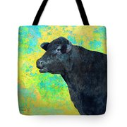 Animals Cow Black Angus  Tote Bag by Ann Powell