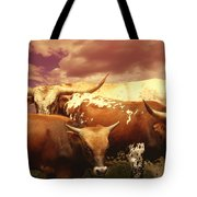 animals - cows- Longhorns La Familia  Tote Bag