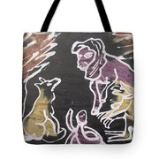 Animals Hold Their Monthly Meeting In The Bush. Tote Bag