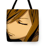 Anime Girl Brown Tote Bag