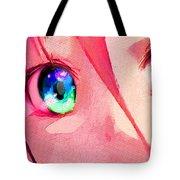 Anime Girl Eyes Red Tote Bag