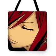 Anime Girl Red Tote Bag