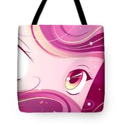 Anime Girl Tote Bag by Sandra Hoefer