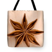 Anise Star Illicuim Verum Single Text Tote Bag