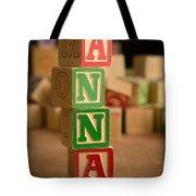 Anna - Alphabet Blocks Tote Bag
