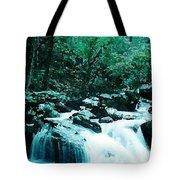 Anna Ruby Falls Watercolor Effect Tote Bag
