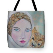 Annalina Litte Angel Of Graceful Light Tote Bag by The Art With A Heart By Charlotte Phillips