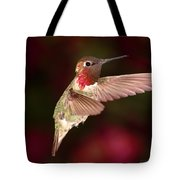 Anna's Hummingbird And The Roses Tote Bag