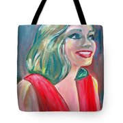 Anne Hathaway In Interview Tote Bag