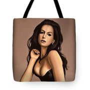 Anne Hathaway Painting Tote Bag