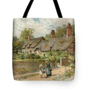Anne Hathaway's Cottage At Shottery Tote Bag