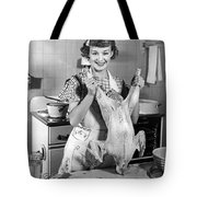 Anne Shirley And Her Turkey Tote Bag by Underwood Archives
