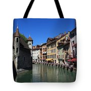 Annecy And Le Thiou Tote Bag