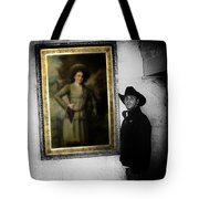 Annie Oakley With A Cowboy Tote Bag