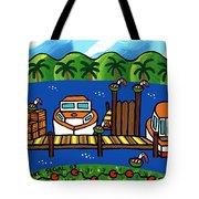 Annie's Dock - Cedar Key Tote Bag