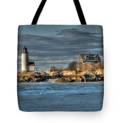 Annisquam Lighthouse From The Beach Tote Bag