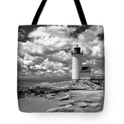 Annisquam Lighthouse Infrared Tote Bag