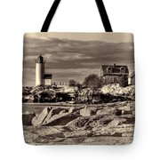 Annisquam Lighthouse Vintage Tote Bag