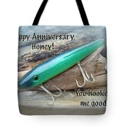Anniversary Greeting Card - Saltwater Lure Tote Bag