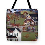 Annual Barn Dance And Hayride Tote Bag by Catherine Holman