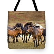 Annual Horse Round Up-laufskalarett Tote Bag
