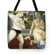 Annunciation With Yellow Dress Tote Bag