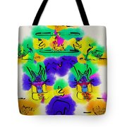 Another Blueprint In Abstract Tote Bag