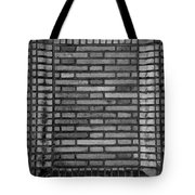 Another Brick In The Wall In Black And White Tote Bag