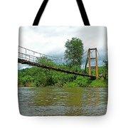 Another Bridge Over River Kwai In Kanchanaburi-thailand Tote Bag