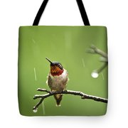 Another Rainy Day Hummingbird Tote Bag