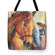 Horse In Watercolor Another Sunrise Tote Bag