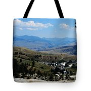 Another View From Mammoth In Yellowstone Tote Bag