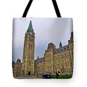 Another View Of Parliament Building In Ottawa-on Tote Bag