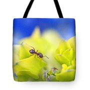Ant And Hydrandea Tote Bag